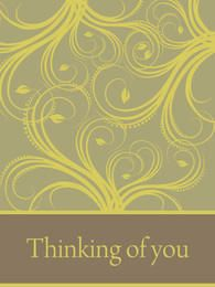 Green Swirling Thank You Card