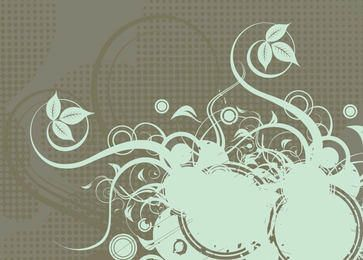 Growing Swirls Halftones Background