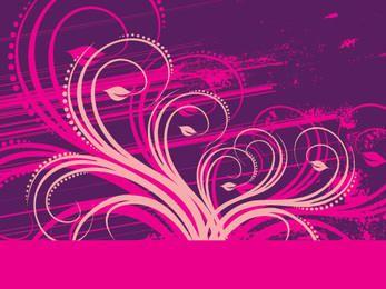 Purple Pink Floral Grungy Decoration