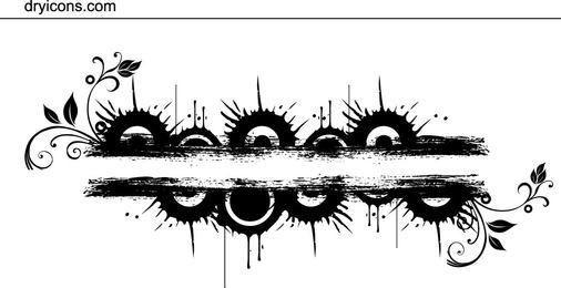 Grungy Circles Bar Banner
