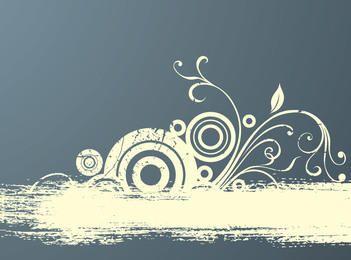 Kreise, die Grungy abstrakten Hintergrund flouring