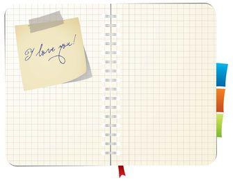Caderno espiral da nota pegajosa