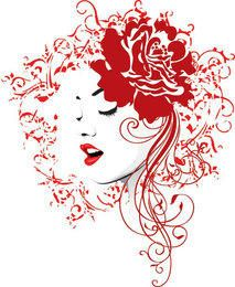 Red Rose Girl Decoration