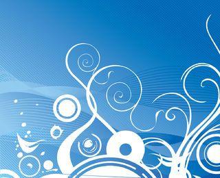 Burbujas remolinos fondo azul