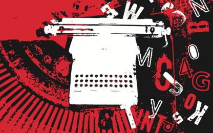 Typ Maschine Retro Grunge Poster