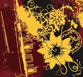 Fundo abstrato grunge flor
