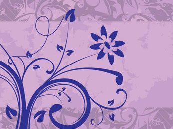 Floral Texture Swirls Banner