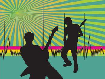 Fundo de festa do músico starburst