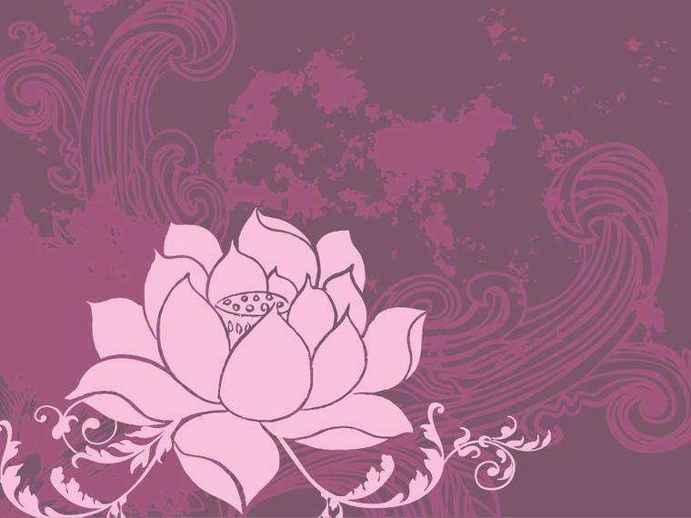 Lotus Flower Retro Grunge Background Vector Download