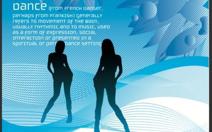 Dancing Girl Blue Poster Template
