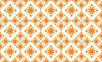 Vintage Orange Floral Seamless Pattern