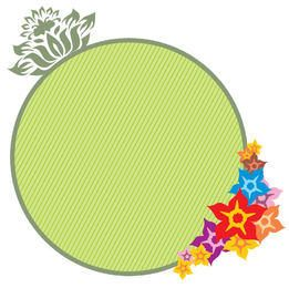 Green Circle Floral Banner