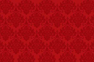Patrón de adorno rojo transparente