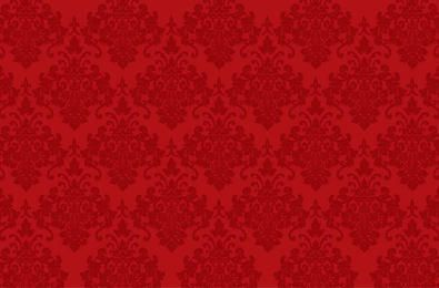 Seamless Red Ornament Pattern