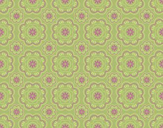 Abstract Seamless Retro Floral Pattern