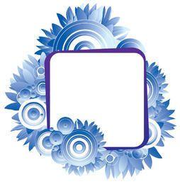 Blue Circles Flower Banner
