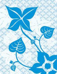 Planta de flor en patrón floral