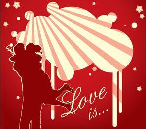 Pareja romántica fondo de San Valentín