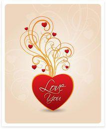 Te amo coração redemoinhos