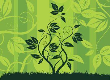 Plantas florales verde paisaje