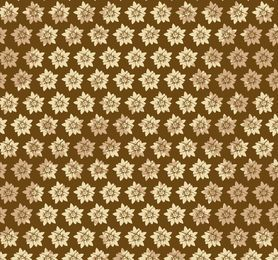 Golden Starry Flower Pattern