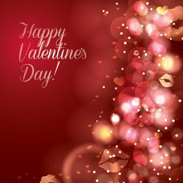 Sparkles Red Valentine Card Vector download – Valentine Card Download