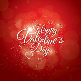 Glowing Valentines Day Design