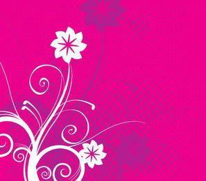 Floral Swirls Halftones Background