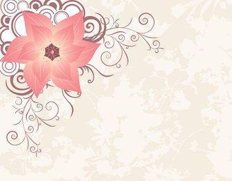 Círculos de flores decoración de la esquina