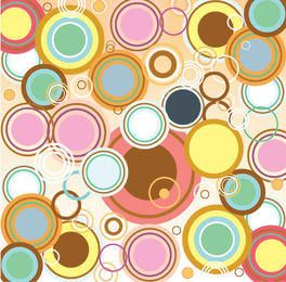 Retro Abstract Bubbles Background