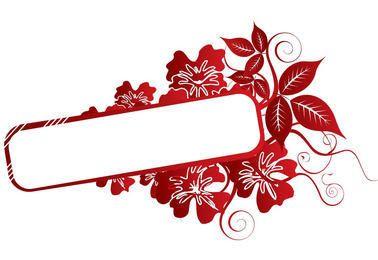 Red Flower Swirls Frame