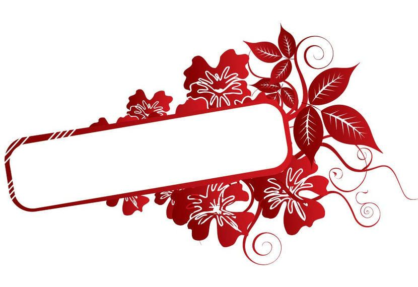 Marco De Remolinos De Flor Roja Descargar Vector