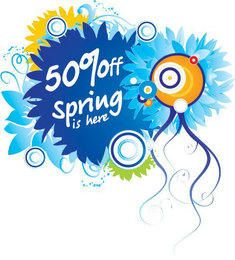 Floral Colorful Spring Sale Discount