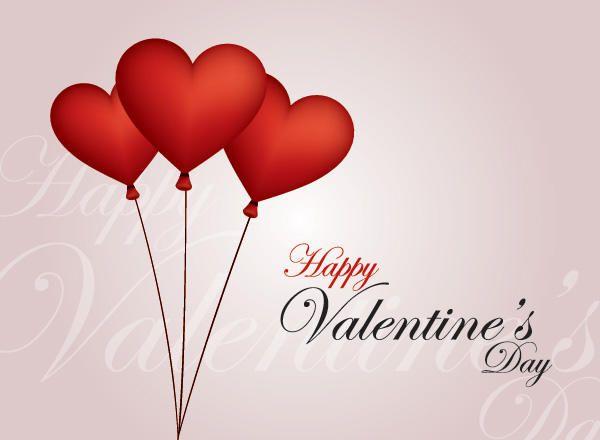 Balloon Hearts Valentine Card Vector download – Valentine Card Download