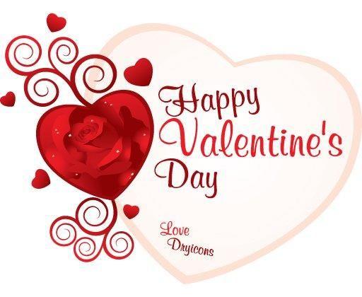 Swirls Rose Heart Valentine Card  Vector download