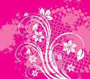 Decoração de redemoinhos de Grunge de flor