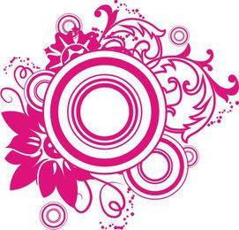 Swirls Circles Magenta Ornament