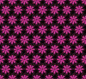 Patrón de flor rosa inconsútil con clase