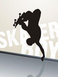 Silhueta de salto de skatista