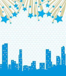 Fondo abstracto estrellas del paisaje urbano