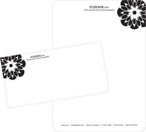 Membrete y plantilla de diseño de sobres