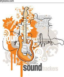 Guitars Sound Track Musical Poster