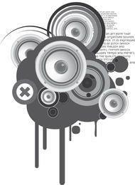 Speaker Circles Musical Background