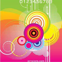 Círculos coloridos ondas abstrato
