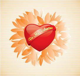 Be my Valentine Heart Flower
