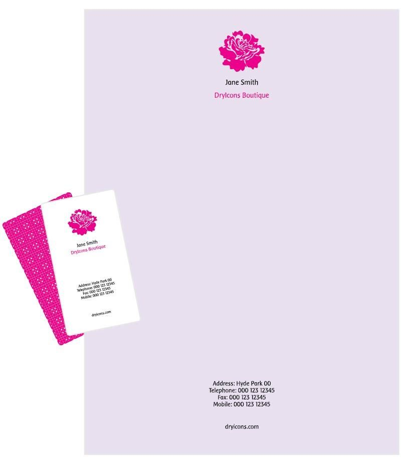 Classy Letterhead Business Card Template - Vector download