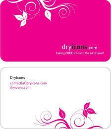 Cartão de visita floral de duas partes