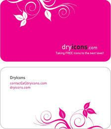 Floral Two Part Business Card