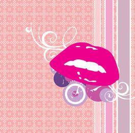 Lippen kreist abstrakten Verzierungs-Hintergrund ein