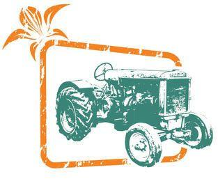 Bosquejo de tractor fuera de marco